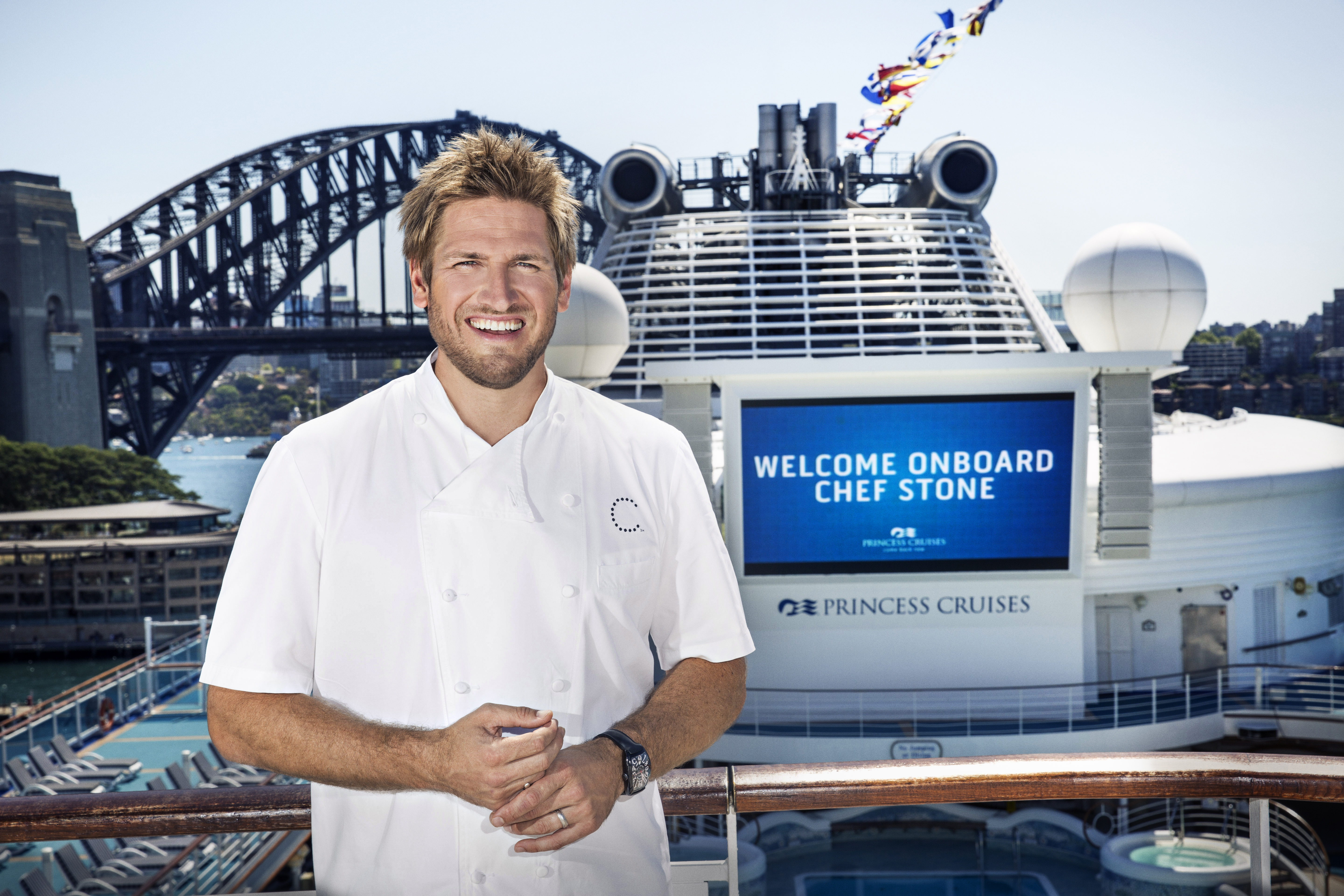 Chef Curtis Stone on the Diamond Princess in Sydney Harbour. Tuesday 29th September 2015. Photo by DAMIAN SHAW.com