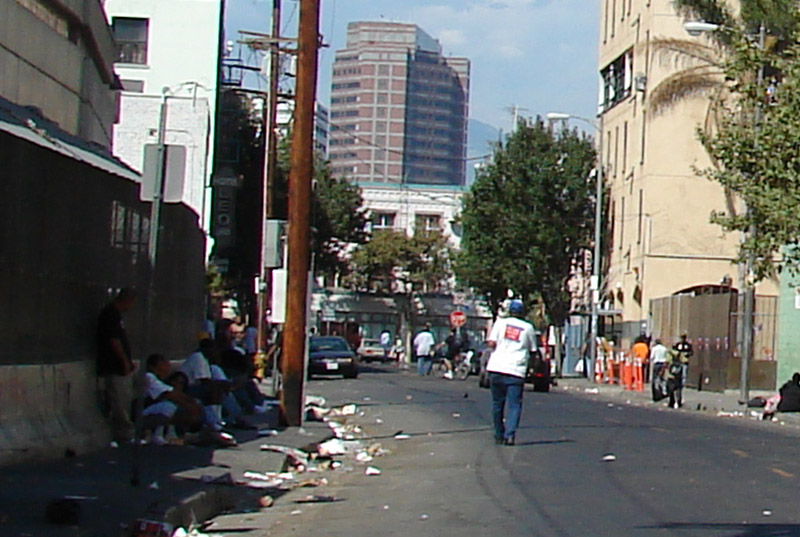 Skid Row - home to the largest homeless population in the USA - was once Downtown Los Angeles. Photo Credit: