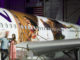"Hawaiian Airlines today revealed the first of three ""Moana""-themed planes at its home base at Honolulu International Airport (HNL). Auli'i Cravalho, the Hawai?i-born actress who is the voice of Disney's ""Moana,"" and Dwayne Johnson, the voice of demigod Maui, were among the first to see the inspiring new design. Photo by Donald Traill for Hawaiian Airlines"