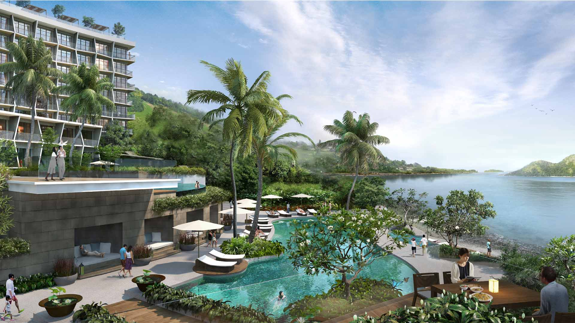 Alongside The Private Beach Will Be Two Huge Swimming Pools And One Children S Pool To Cool Off In As Well A Luxe Spa Gym Kids Club
